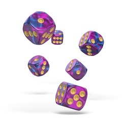 Oakie Doakie Dice - D6 Gemidice Amethyst 16mm Set of 12