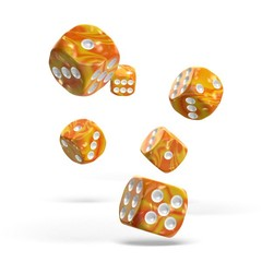 Oakie Doakie Dice - D6 Gemidice Sunstone 16mm Set of 12