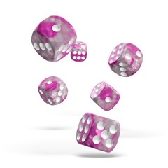 Oakie Doakie Dice - D6 Gemidice Magnolia 16mm Set of 12