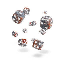 Oakie Doakie Dice - D6 Gemidice Silver-Rust 12mm Set of 36 (ODD400032)