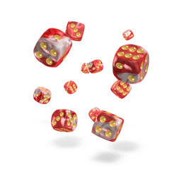 Oakie Doakie Dice - D6 Gemidice Red Sky 12mm Set of 36 (ODD400035)