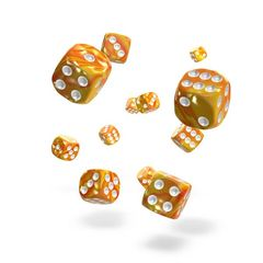 Oakie Doakie Dice - D6 Gemidice Sunstone 12mm Set of 36 (ODD400040)