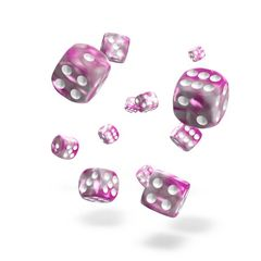 Oakie Doakie Dice - D6 Gemidice Magnolia 12mm Set of 36 (ODD400041)