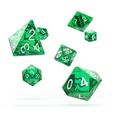 Oakie Doakie Dice - RPG-Set Translucent Green