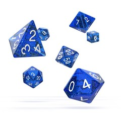 Oakie Doakie Dice - RPG-Set Speckled Blue