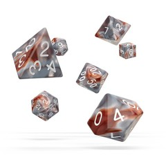 Oakie Doakie Dice - RPG-Set Gemidice Silver-Rust