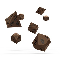 Oakie Doakie Dice - RPG-Set Metal Brasstige