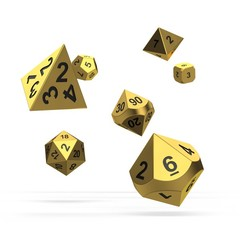 Oakie Doakie Dice - RPG-Set Metal Aurym