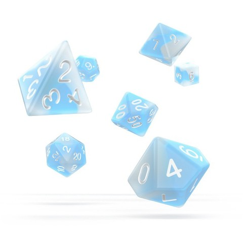 Oakie Doakie Dice - RPG-Set Glow in the Dark Arctic