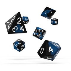 Oakie Doakie Dice - RPG-Set Glow in the Dark Deep Ocean