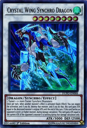 Crystal Wing Synchro Dragon - DUPO-EN068 - Ultra Rare - 1st Edition