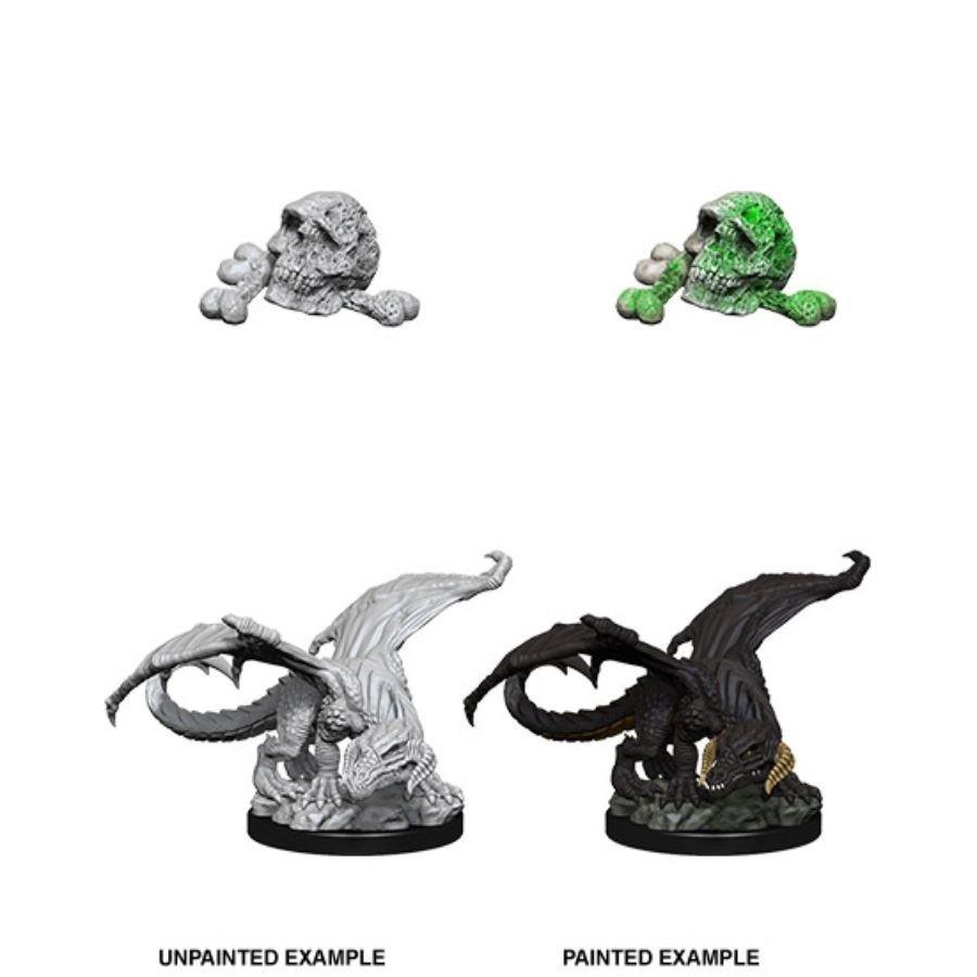 Nolzurs Marvelous Unpainted Minis - Black Dragon Wyrmling