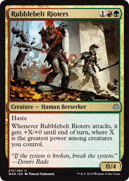 Rubblebelt Rioters - Foil