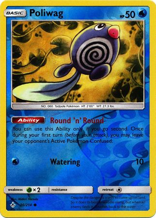 Poliwag - 36/214 - Common - Reverse Holo