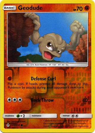 Geodude - 87/214 - Common - Reverse Holo
