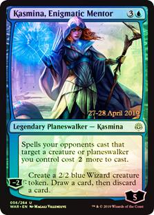 Kasmina, Enigmatic Mentor (WAR Prerelease Foil)