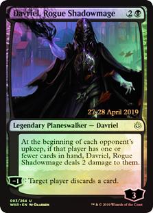 Davriel, Rogue Shadowmage (WAR Prerelease Foil)