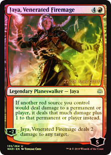 Jaya, Venerated Firemage - Foil - Prerelease Promo