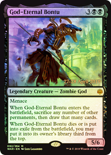God-Eternal Bontu - Foil - Prerelease Promo