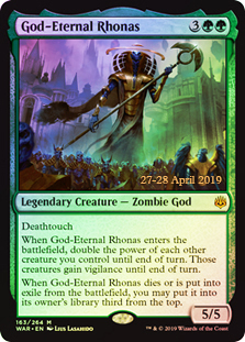 God-Eternal Rhonas - Foil - Prerelease Promo