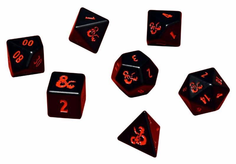 Dungeons & Dragons 7-Die Heavy Metal RPG Set