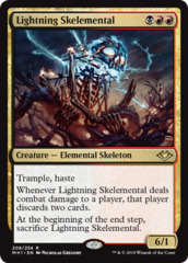 Lightning Skelemental - Foil