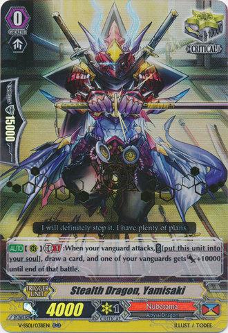 Vanguard Stealth Dragon Cardfight! GOLD HOT STAMP V-SS01//038EN RR Yamisaki