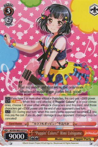 BD/EN-W03-075 U Poppin Colors! Rimi Ushigome