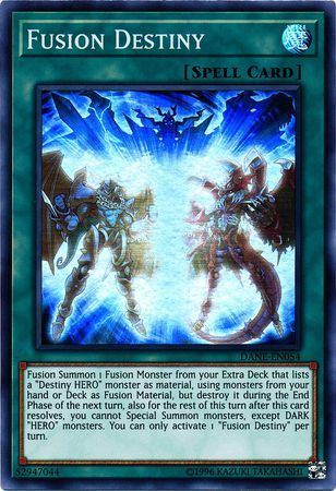 1x Fusion Destiny Super Rare DANE-EN054 Near Mint