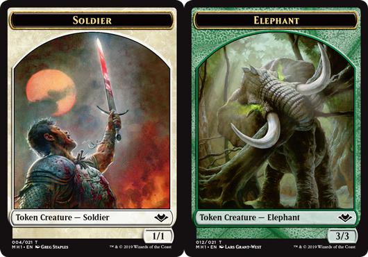Soldier Token // Elephant Token
