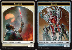 Soldier Token // Golem Token
