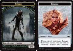Zombie Token // Emblem - Serra the Benevolent Token