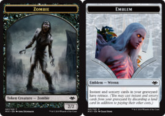 Zombie Token // Emblem - Wrenn and Six Token