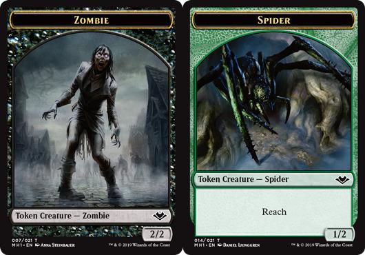 Zombie Token // Spider Token