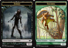 Zombie Token // Squirrel Token