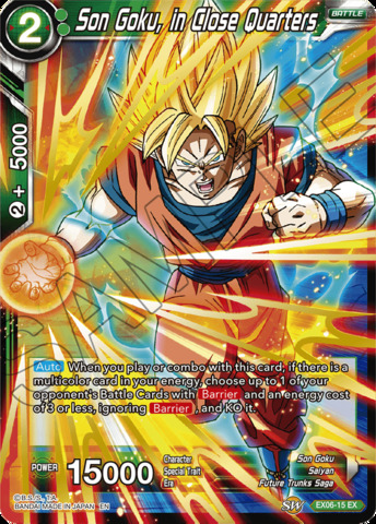 Son Goku, in Close Quarters - EX06-15 - EX - Foil