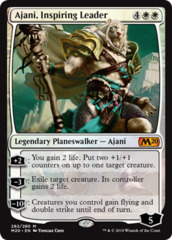 Ajani, Inspiring Leader - Foil Planeswalker Deck Exclusive on Channel Fireball
