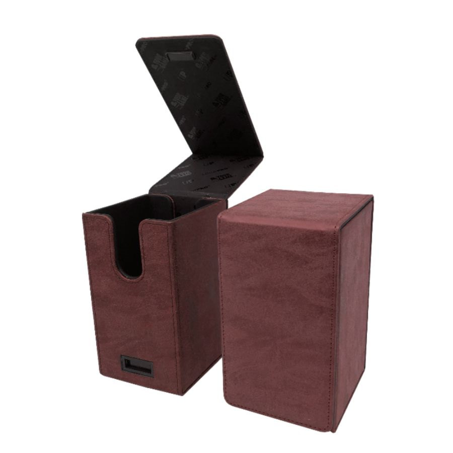 Ultra Pro - Alcove Tower Flip Box - Suede Collection: Ruby