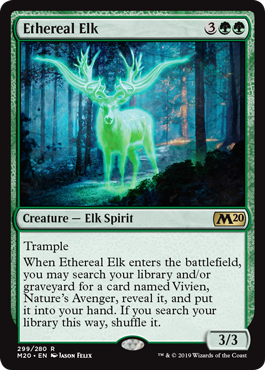 Ethereal Elk - Planeswalker Deck Exclusive