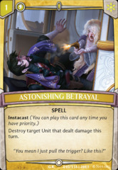 Astonishing Betrayal - Foil on Channel Fireball