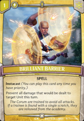 Brilliant Barrier - Foil on Channel Fireball