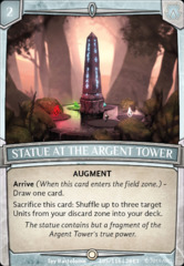 Statue at the Argent Tower