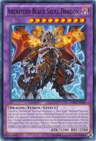Archfiend Black Skull Dragon - LDK2-ENJ42 - Common - Unlimited Edition