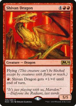 Shivan Dragon - Welcome Deck - Magic 2020