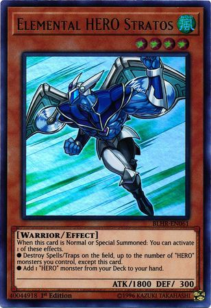 Elemental HERO Stratos - BLHR-EN061 - Ultra Rare - 1st Edition