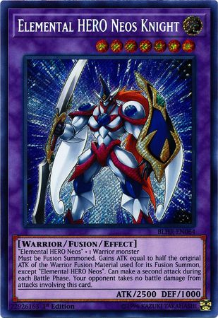 Elemental HERO Neos Knight - BLHR-EN064 - Secret Rare - 1st Edition
