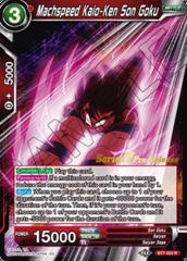 Machspeed Kaio-Ken Son Goku - BT7-005 - R - Pre-release (Assault of the Saiyans)