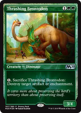 Thrashing Brontodon - Foil Dark Frame Promo