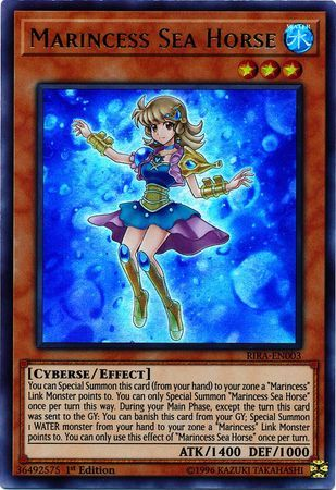 Marincess Sea Horse - RIRA-EN003 - Ultra Rare - 1st Edition