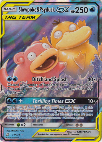 Slowpoke & Psyduck Tag Team GX - 35/236 - Ultra Rare